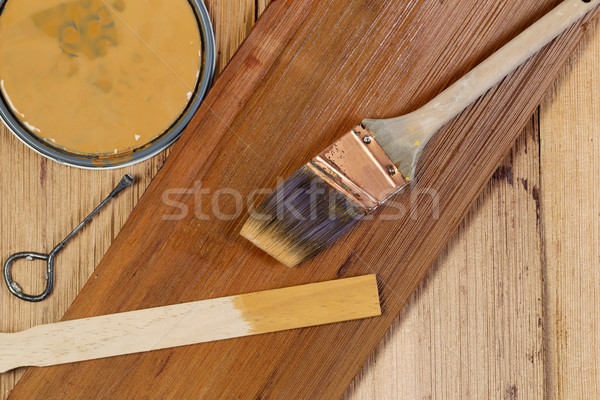 Staining Natural Cedar Wood  Stock photo © tab62