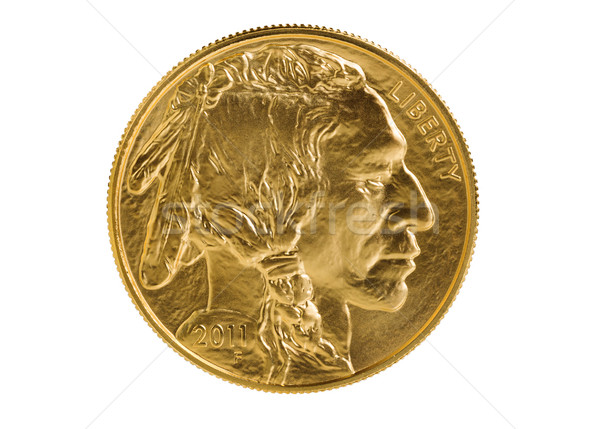 Fine gold Buffalo Coin on white background  Stock photo © tab62