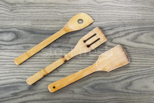 Houten oude as hout boord drie Stockfoto © tab62