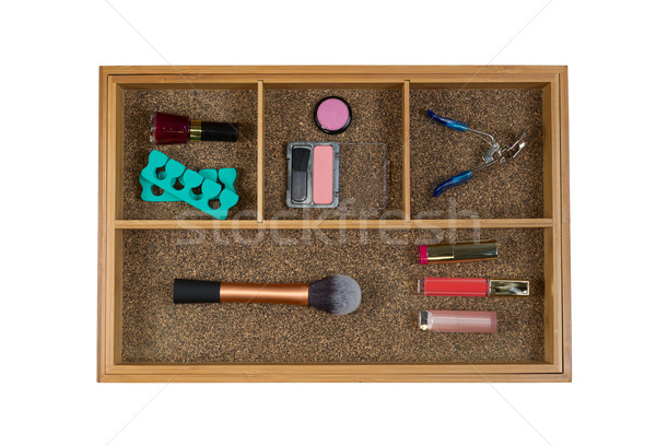Women Cosmetic Accessories in Drawer  Stock photo © tab62