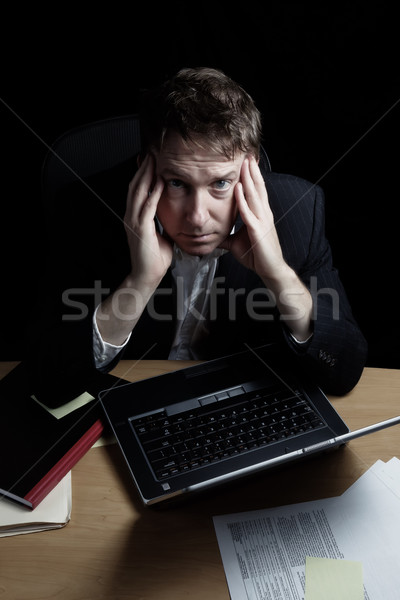 Tired Businessman working very late  Stock photo © tab62
