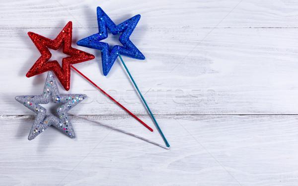 Férias estrelas branco colorido rústico Foto stock © tab62