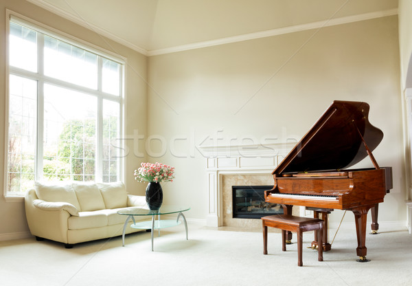 Bright daylight living room with grand piano  Stock photo © tab62