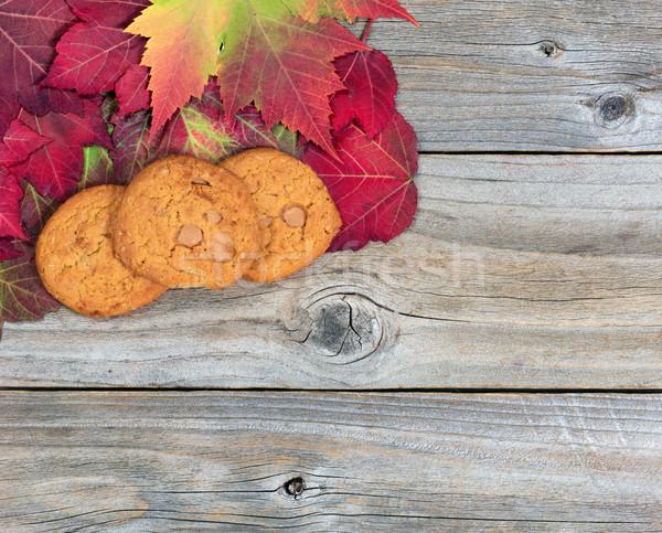 Vers karamel appel cookies rustiek Stockfoto © tab62
