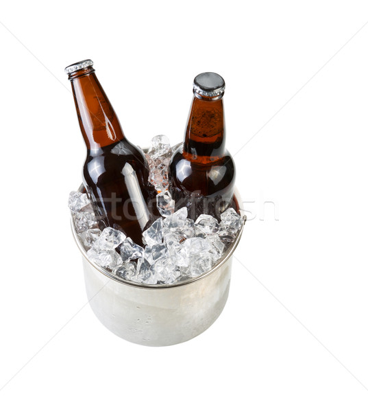Ice Cold Beer in Stainless Steel Bucket  Stock photo © tab62