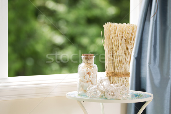 Home Decorations in front of open window  Stock photo © tab62