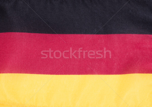 German flag made of cloth Stock photo © tab62