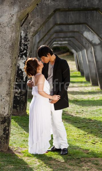 Lovers Kissning Outdoors  Stock photo © tab62