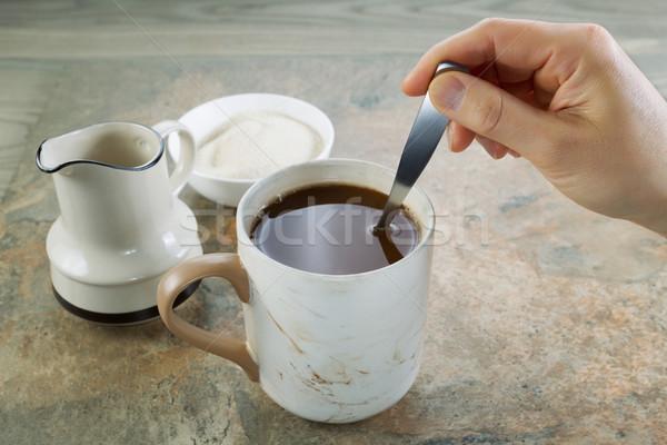Café horizontal foto feminino mão Foto stock © tab62