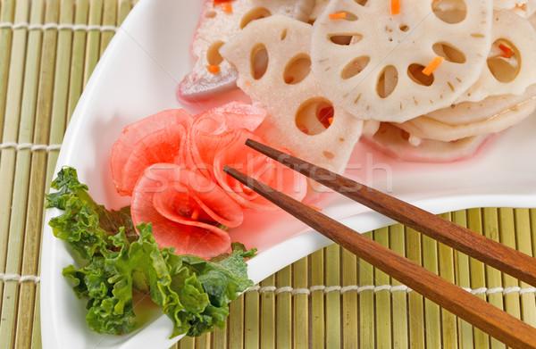 Chinese Radish served on White Dish  Stock photo © tab62