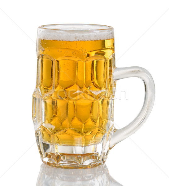 Freshly poured golden beer ready to drink   Stock photo © tab62