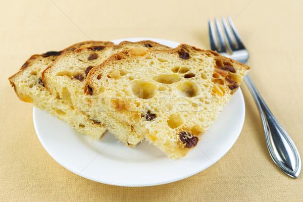 Fresh Golden Italian Cake Slices for Breakfast  Stock photo © tab62