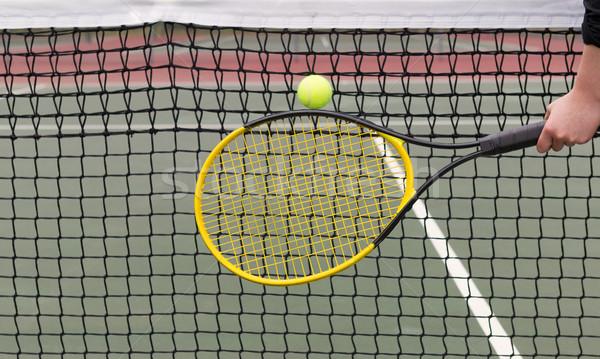 プレーヤー テニスボール 純 水平な 写真 テニスラケット ストックフォト © tab62
