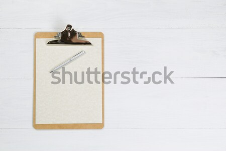 Traditional Clipboard on white desktop Stock photo © tab62