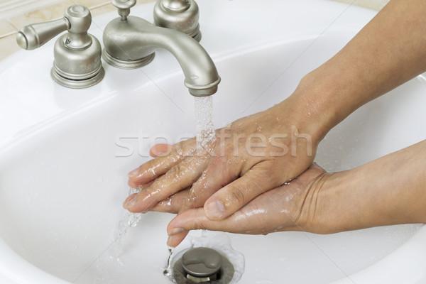 ファイナル 手 洗浄 プロセス 水平な 写真 ストックフォト © tab62