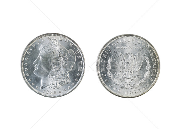 Morgan Silver Dollars on White Stock photo © tab62