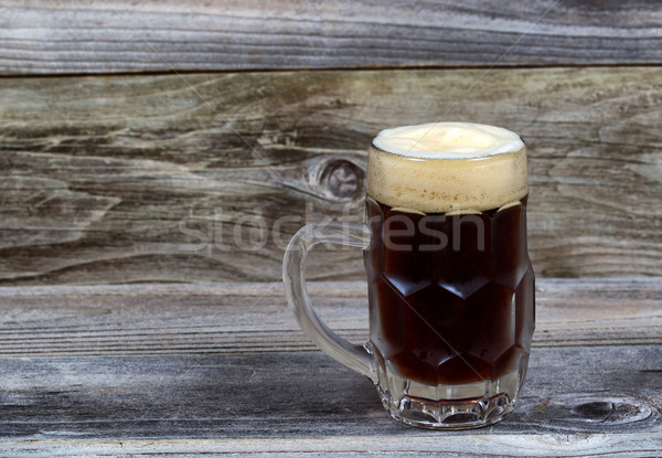 Draft Stout Beer in Glass Stein on Rustic Wood  Stock photo © tab62