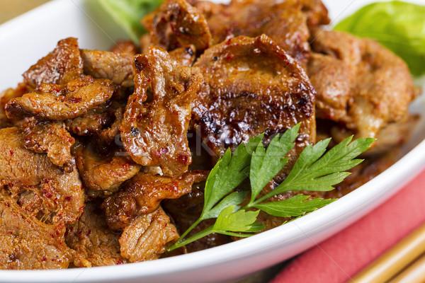 Korean Barbeque Pork in Dinner Bowl  Stock photo © tab62