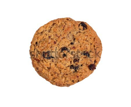 Whole oatmeal raisin cookie isolated on white background Stock photo © tab62