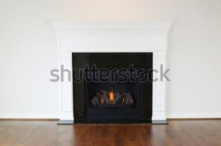Large Natural Gas Fireplace  Stock photo © tab62