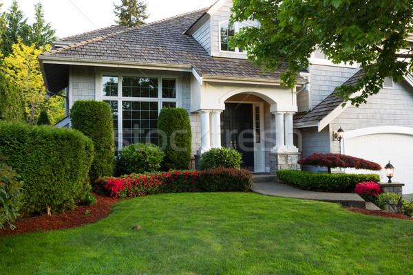 Schone buitenkant home laat voorjaar seizoen Stockfoto © tab62