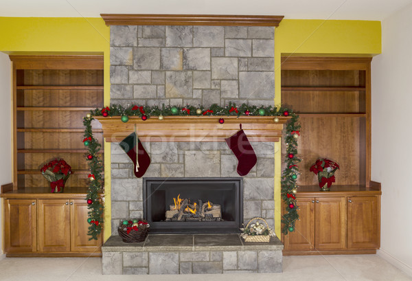 Glowing Fireplace for the Holidays  Stock photo © tab62
