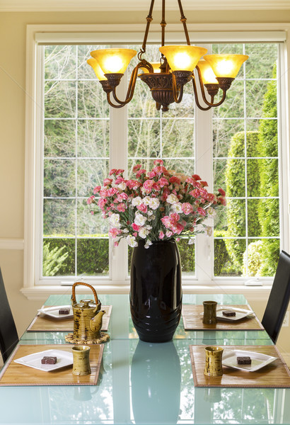 Formal Dining Room Setup for Tea and Snacks  Stock photo © tab62