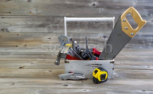 ツール 便利屋 ツール 木材 水平な ストックフォト © tab62