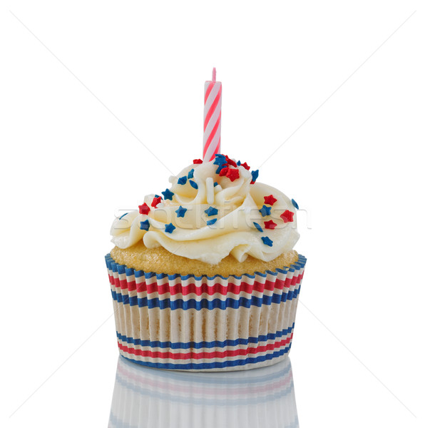 Decorative cupcake for the Fourth of July on white background  Stock photo © tab62