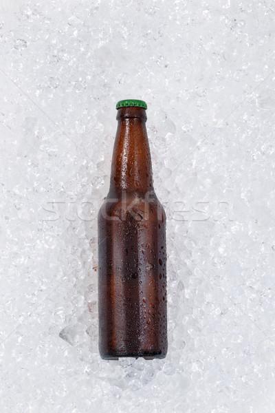 ボトル ビール 冷却 ダウン 氷 ストックフォト © tab62