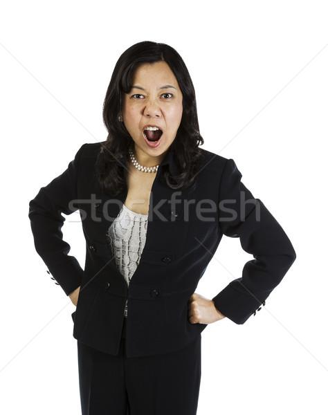 зрелый азиатских женщину Boss Сток-фото © tab62