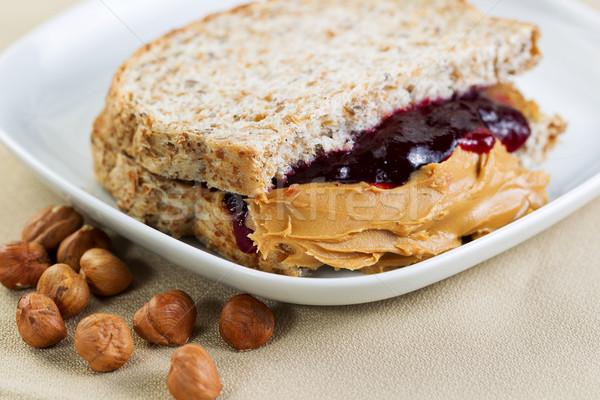 Stok fotoğraf: Fıstık · ezmesi · sandviç · yatay · fotoğraf