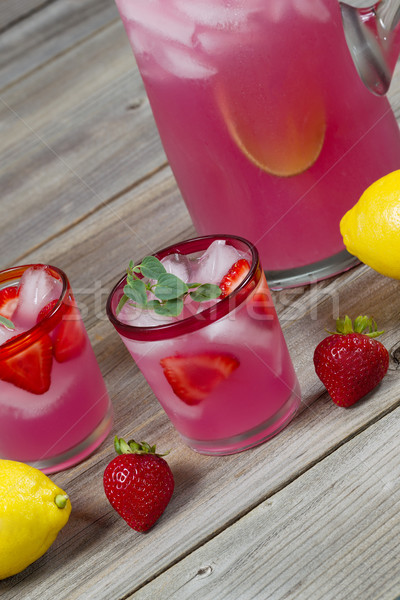 Pink Lemonade with Fruit Stock photo © tab62