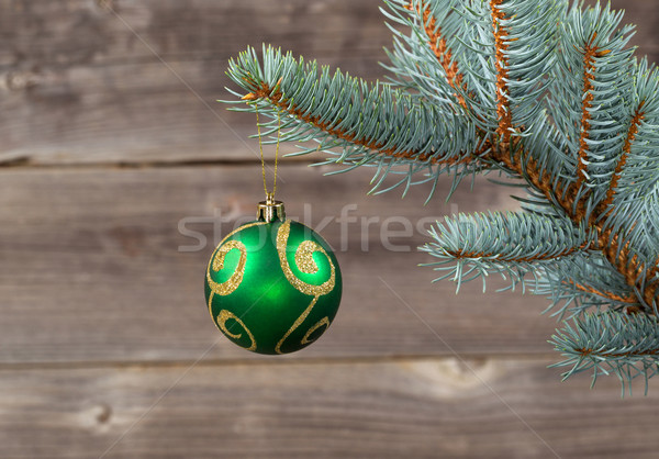 Navidad ornamento colgante azul ataviar rama Foto stock © tab62