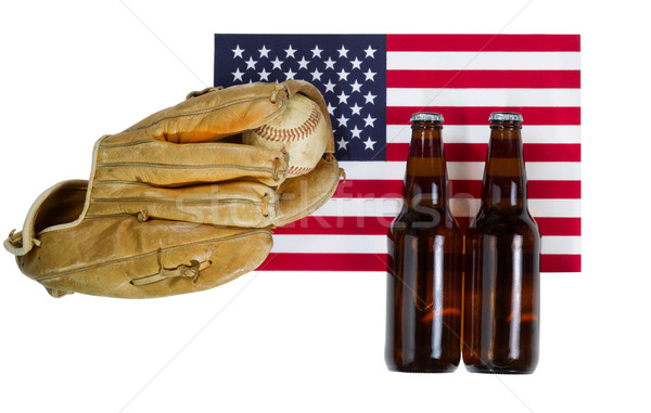 American pastime of baseball on isolated white  Stock photo © tab62