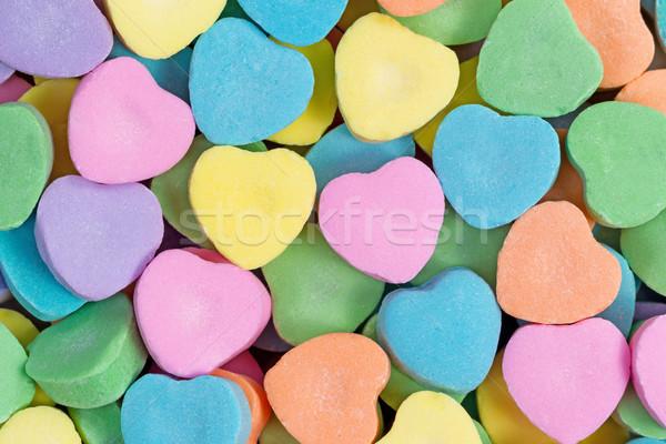 Boldog valentin nap színes szív alakú cukorkák Stock fotó © tab62