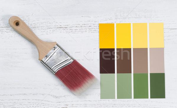 новых стороны кистью будущем несколько цвета Сток-фото © tab62