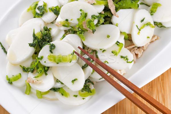 Stock fotó: Kínai · tészta · rizs · disznóhús · edény · tészta