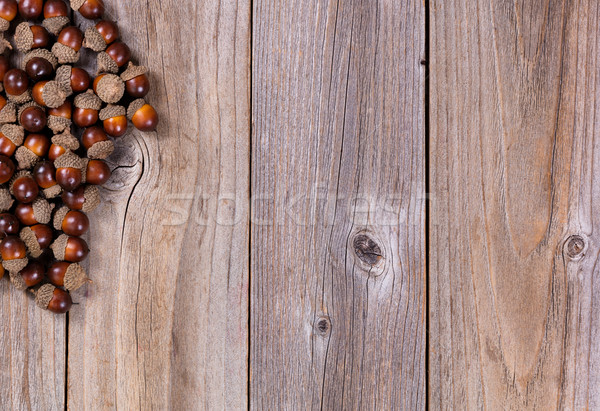 ősz makk díszítések rusztikus fából készült kilátás Stock fotó © tab62