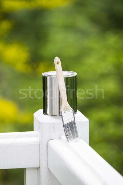 Painting Tools for Outdoor White Deck Railing  Stock photo © tab62