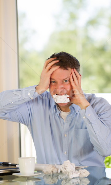 Mature man expressing rage at work  Stock photo © tab62