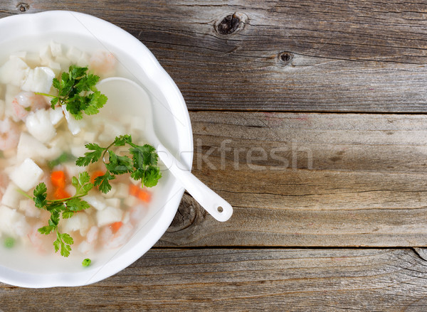 Fresh seafood soup dish ready to eat Stock photo © tab62