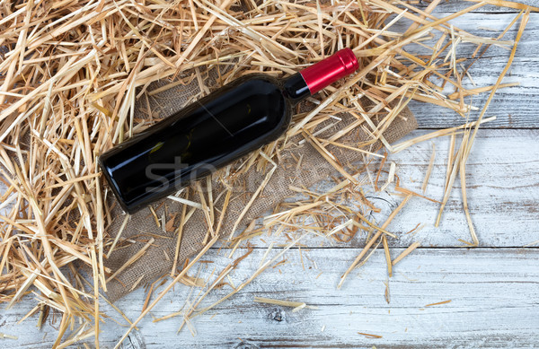 şişe üst saman çuval bezi görmek Stok fotoğraf © tab62
