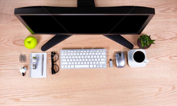 Ver escritório básico área de trabalho foco trabalhar Foto stock © tab62