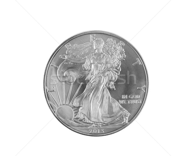 Fine Silver Dollar on White  Stock photo © tab62