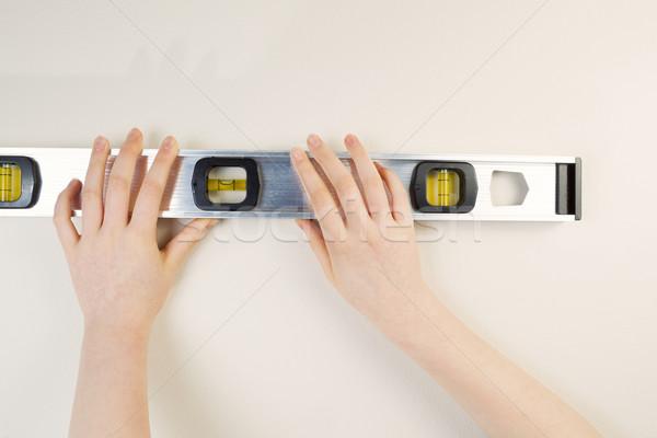 рук уровень интерьер стены домой Сток-фото © tab62