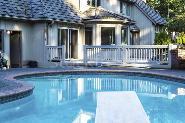 Backyard heated Swimming Pool  Stock photo © tab62