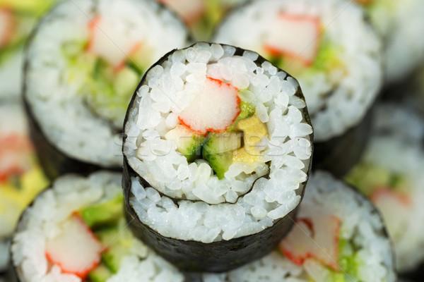 Macro Shot of California Sushi Roll  Stock photo © tab62