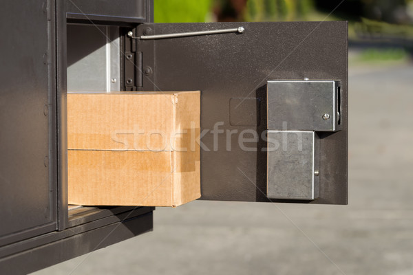 Large Package inside of postal mailbox  Stock photo © tab62