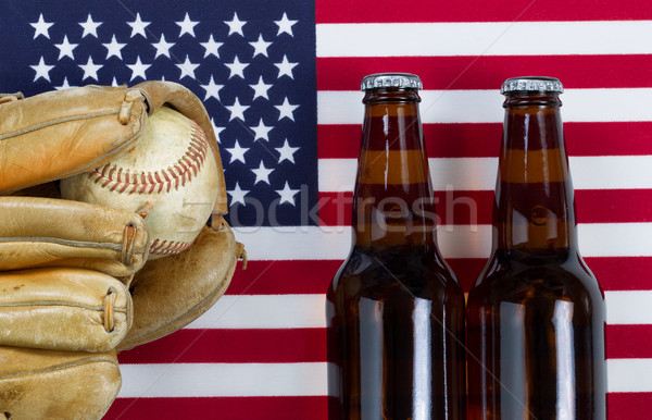 American pastime with baseball and beer  Stock photo © tab62